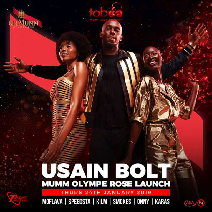 Usain Bolt Mumm Olympe Rose Launch