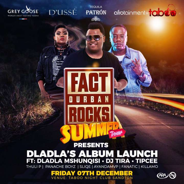 #FactDurbanRocks- Dladla Mshunqisi's Album Launch