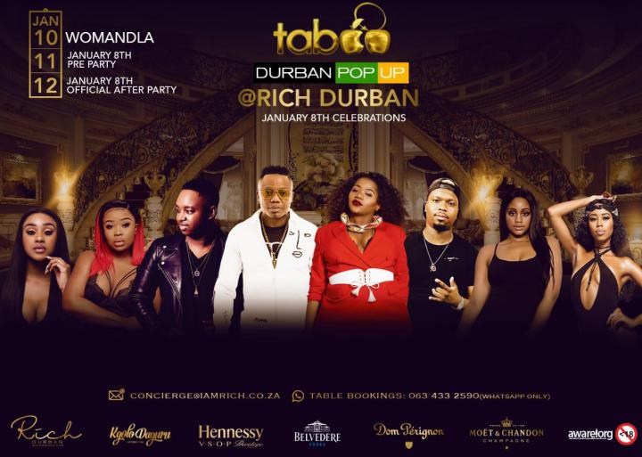 Taboo Durban -3 Day Pop Up.
