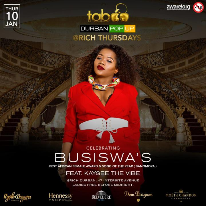 Celebrating Busiswa's Best African female and Song- Banomoya