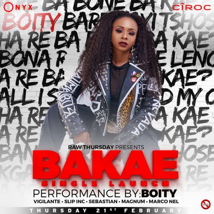 RAWThursdays: Boity Bakae Single Launch .