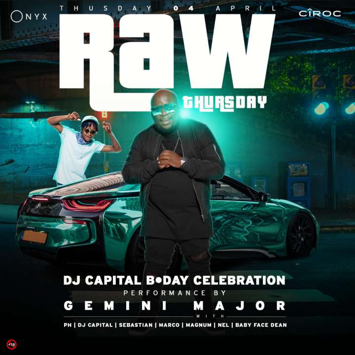 RAWThursdays: DJ Capitals Birthday Celebration